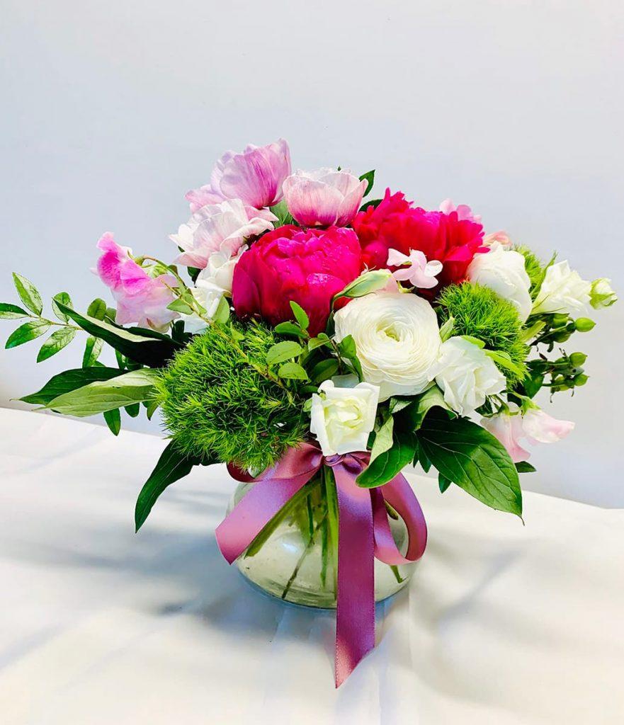 birthday, ranunculus, peony, anemone, sweet pea, lisianthus