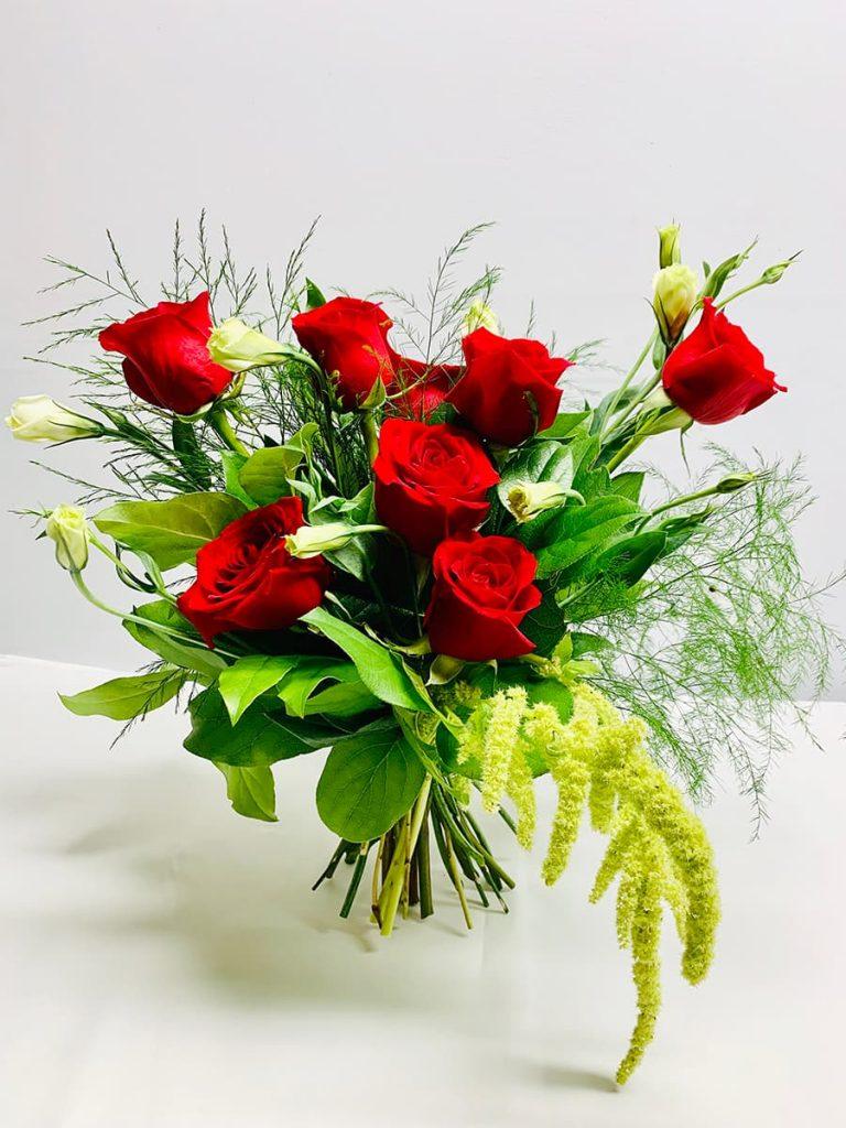 wedding, anniversary, valentine, rose, lisianthus, amaranthus