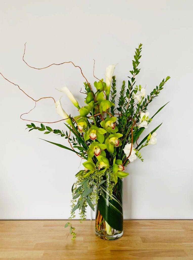 holiday, orchid, calla lily, freesia
