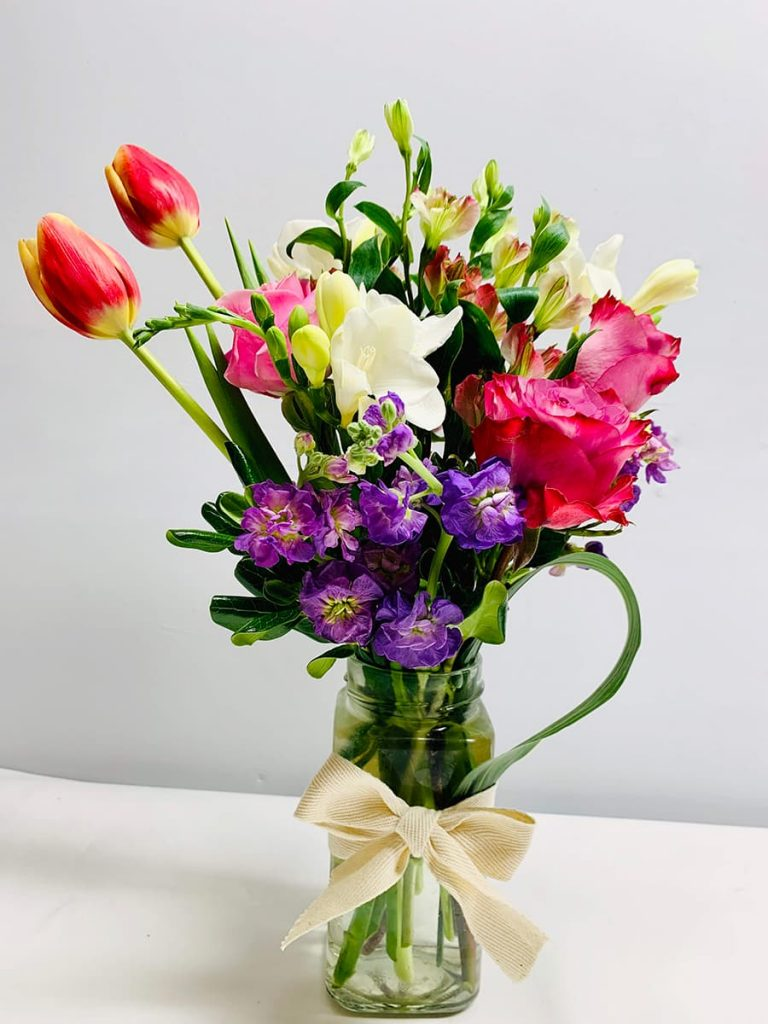 birthday, stock, rose, tulip, freesia, alstroemeria