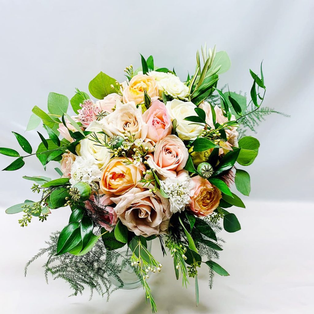 blush, dusty rose, wedding, bouquet, bridal bouquet