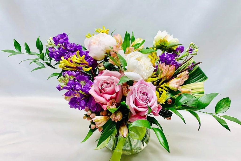 birthday, stock, rose, peony, kangaroo paw, alstroemeria