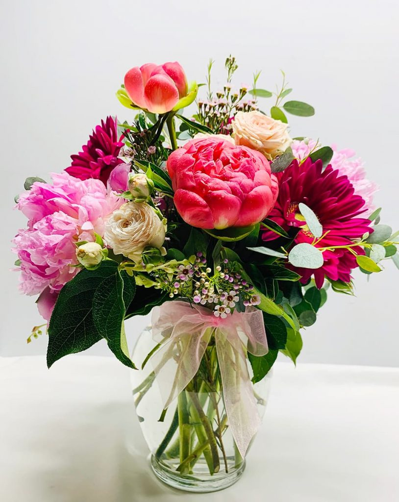 cherish, wedding, congratulation, congrats, peony, bombastic, rose, gerbera