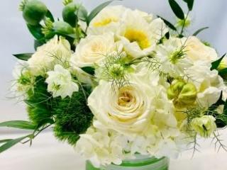 congrats, congratulation, rose, poppy, nigella, hydrangea