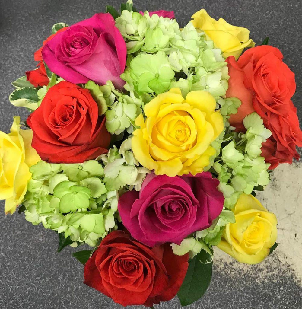 thank you, rose, hydrangea, pink floy rose, hot lady rose