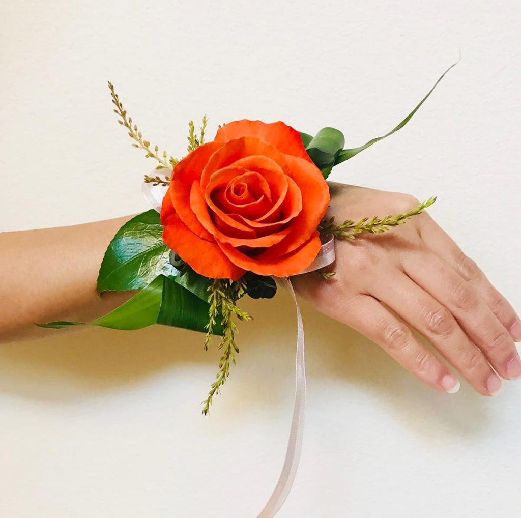 wedding, wrist corsage
