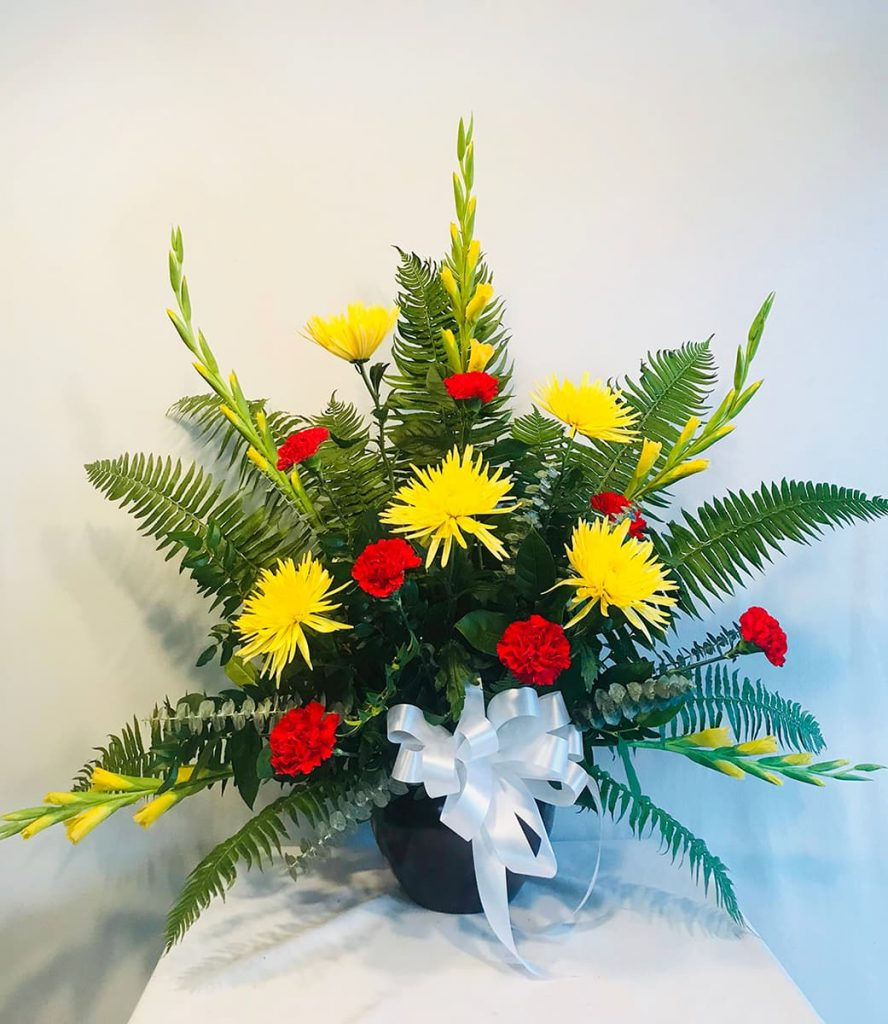 funeral, sympathy, bereavement, disbud, gladiolus, carnation