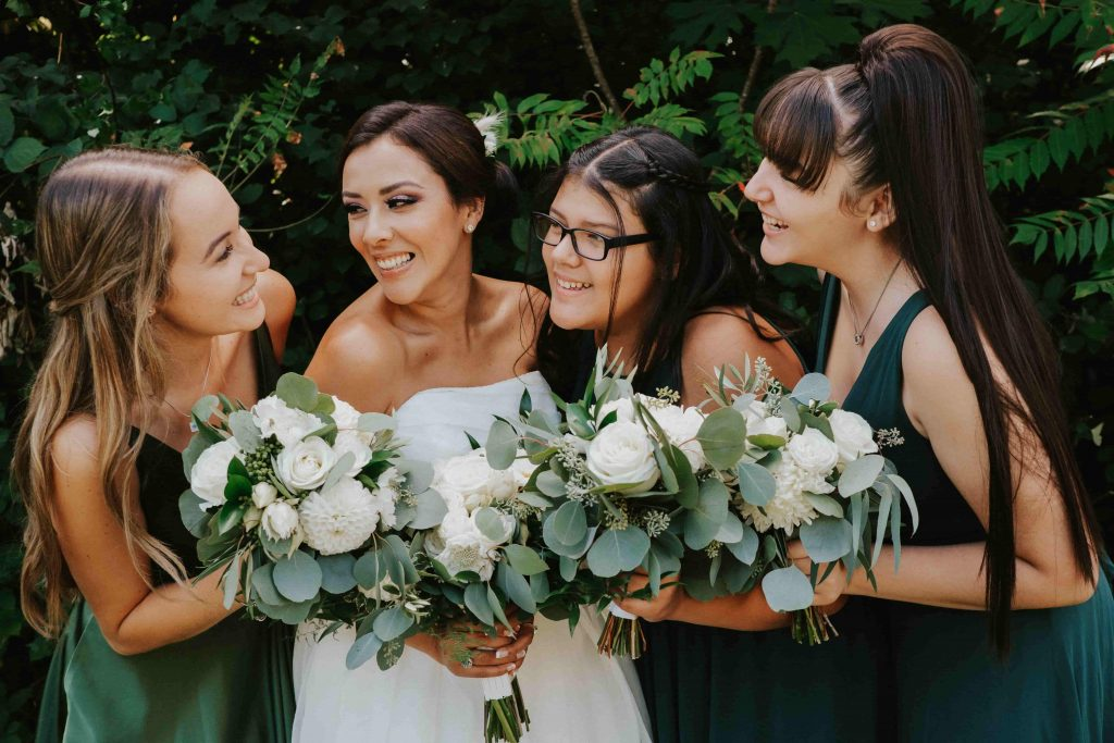 bride, bridesmaids, bridal party