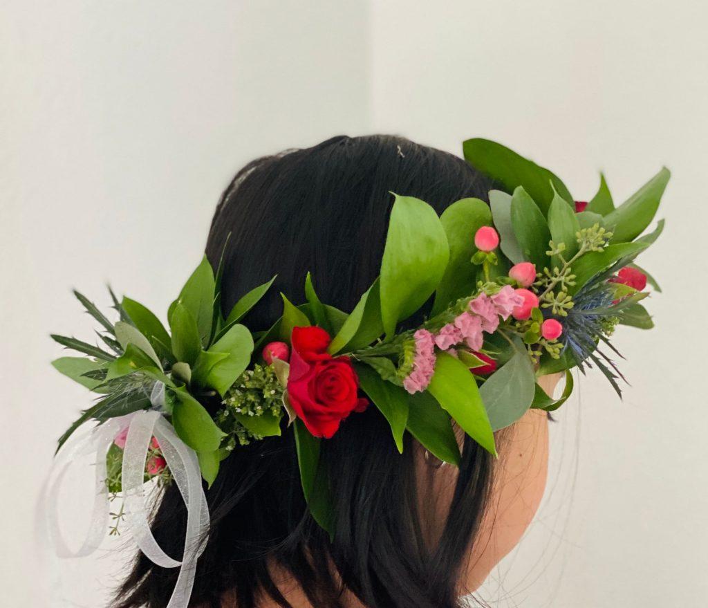 flowers girl crown, halo, wedding