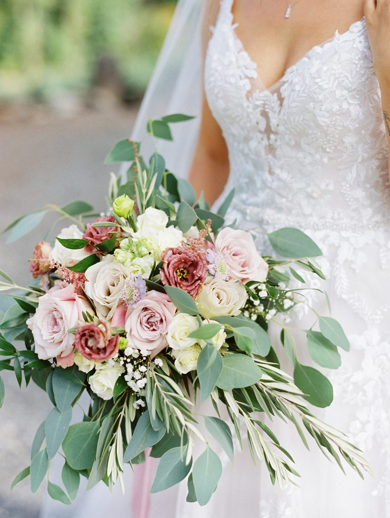 bridal bouquet, mauve, dusty blue, dusty pink, bridal, bouquet